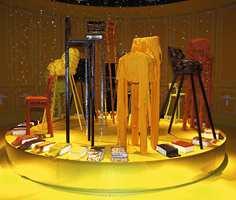 Fra fellesutstillingen på Heimtextil. Her Gunnar Frank-kreasjonen klassisk gul.