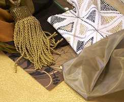 Bildet viser gardinstoffene