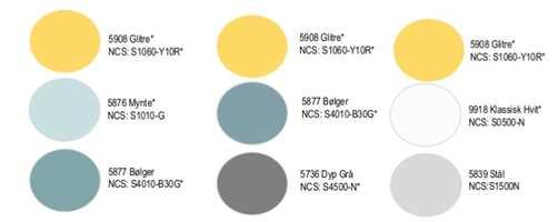 <b>GLITRE:</b> Butinox Interiør anbefalte tidligere i år gulfargen Glitre som følge til blåturkise- og grånyanser for å skape sommerfølelse som varer hele året. (Foto: Butinox)