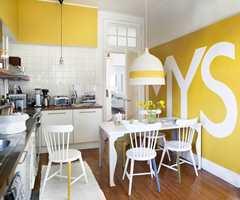 Man kan ikke annet enn å bli i godt humør om morgenen når man kommer inn i dette kjøkkenet fra Beckers!