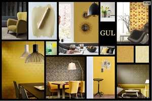 Lek deg med gulfargene i vårt digitale moodboard-verktøy!