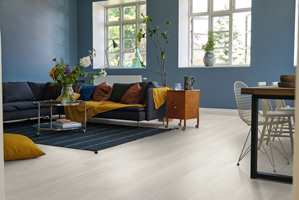Når vi tenker gulv, er det trematerialer og tremønster det oftest handler om.