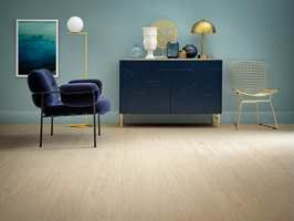<b>KLIKKVINYL:</b> Starfloor Click 55 Plus i designet Lime Oak Light Beige 05 fra Tarkett.