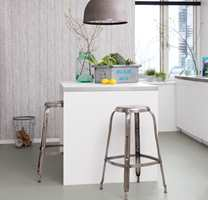 Lyst & Grått: Linoleum, Marmoleum Click, fra Forbo Flooring.