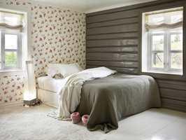 Rommet til husets tenåring, Vilde, er i stil med resten av huset.