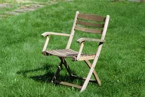 Vår stol før behandling.
