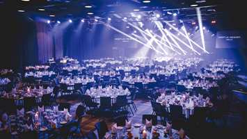 <b>FESTPYNTET SAL:</b> Vestliahallen er den største på Geilo og har plass til 675 gjester til fest og konferanse.