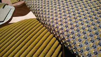 <b>GULGRØNT:</b> Gulgrønne nyanser og myke taktile tekstiler skaper liv og variasjon i paletten. (Foto: Bjørg Owren/ifi.no)