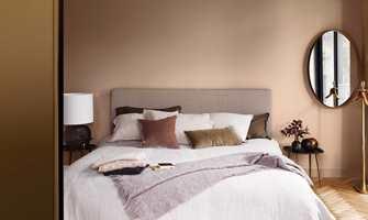 Med matte vegger på soverommet kan du senke skuldrene helt.