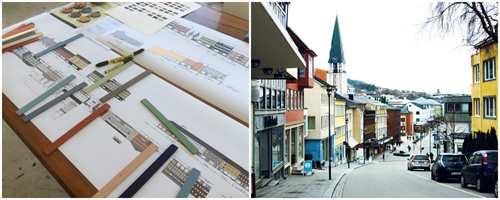 <b>HISTORISK FARGEJAKT:</b> Fargeplan for Storgata i Molde baseres på originalfarger.