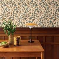 <b>VINTAGE:</b> Den nye tapetkolleksjonen føyer seg inn i vintage-trenden som brer om seg. Her er tapetet Heritage 600726.