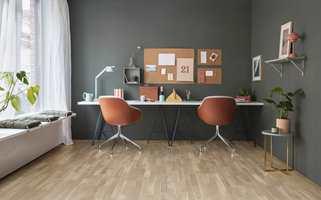 Tarkett gir inspirasjon til ulike hjemmekontormiljøer.