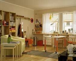 Hobbyrommet som både har god plass og mange funksjonelle løsninger.
