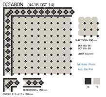 Ja, du leste riktig. Med disse flisene kan du lage mønster som illuderer et teppe.