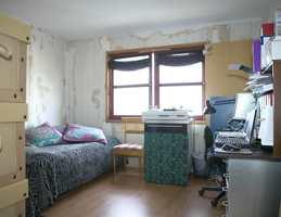 Før: Rommet var kjedelig og slitt.