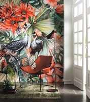 <b>HUMOR: </b>Ikke gå av veien for å gjøre noe utradisjonelt. Tapetet Four Seasons fra Storeys har fargene og vil bringe humør inn i entreen.