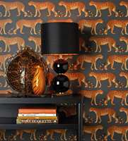 <b>LEOPARD: </b>Liker du eksotiske dyr kan dette tapetet fra Cole&Son/Borge gjøre susen. Hva med noen høstglødende leopardene på soverommet?