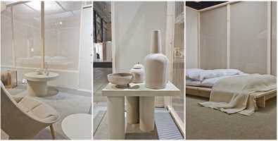 <b>TREND:</b> I trendsonen ble det fokusert på ro og materialitet . Stylist Kirsten Visdal, som hadde kuratert utstillingen, mener at naturmaterialer blir en viktig del av interiørbildet framover.