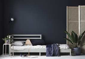 <b>MØRKT: </b>Det er tilfeller der mørke farger faktisk gjør rommet større.