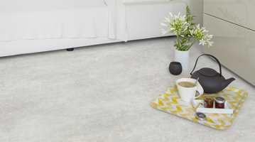 <b> TEPPELOOK: </b>Damasco er et design som minner om et slitt orientalsk teppe.  Designet kommer i to farger – grått og lyst beige.