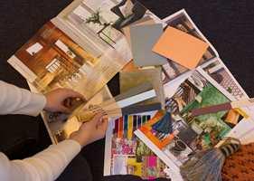<b>INSPIRASJON:</b> Samle bilder, farger, tekstiler og elementer som inspirerer deg. (Foto: Trine Midtsem/ifi.no)