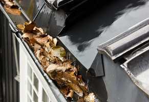 <b>TAKRENNA:</b> Ser takrenna di slik ut, bør du rense den godt, så vannet slipper gjennom.