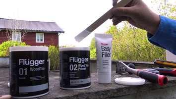 For lengre holdbarhet påfører du Flügger 02 Wood Tex Primer etter du har grunnet med 01 Wood Tex Grunnolje.