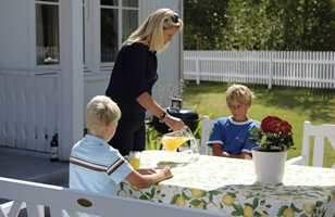 <b>FAMILIEHYGGE:</b> Uteplassen skal være samlingssted for hele familien.