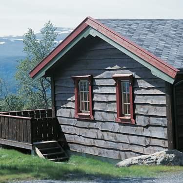 Tyrilin interiørbeis få fjellets vakre farger og lød inne