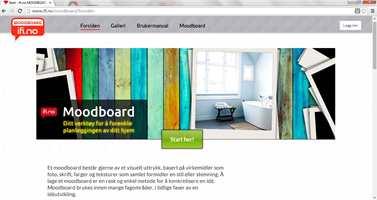 Ifi.no lanserer nå en egen moodboardløsning, der du gratis kan komponere egne collager med farger og bilder som et hjelpende ledd i planleggingen av oppussingen.