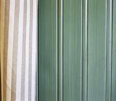 Farge og lasering i kombinasjon med gardinen.
