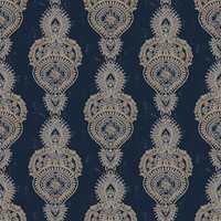 <b>VEGGPRYD:</b> Et mønster skaper føringer for stil og atmosfære. Vi aner her litt orientalsk varme som kontrast til det kalde norske vinterlandskapet. Tapetet er fra Fantasi Interiør. (Foto: Fantasi Interiør)