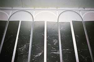 Vannbåren varme er varmt vann som sirkulerer i plastrør.