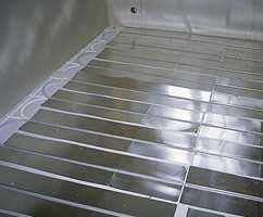 Utgående vann har en temperatur på 45 grader, mens returvannet vanligvis har en temperatur på 40 grader.