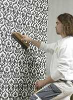 Enveggs dekor blir et effektfullt blikkfang i interiøret.