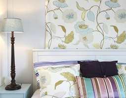Tekstilet bak sengen var en kreativ metode for å ta i bruk mer tekstiler.