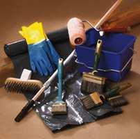Sørg for å få med alt utstyr til malejobben.