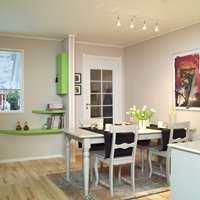 Spisestuemøblene ble malt med lys oljemaling og flyttet til et sted med bedre plass.