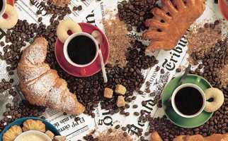 Frodig cafe - mønster,