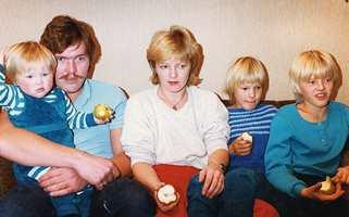 Småbarnsfamilien i 1983.