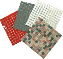 Mosaikk fås i et utall farger og fargekombinasjoner...