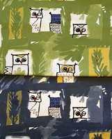 De blunker til deg! En gøyal tekstilnyhet med uttrykksfulle ugler.