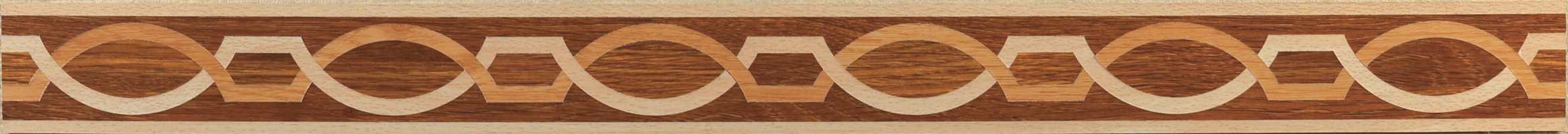 Nærbilde av mønsteret i borden.