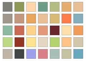 Arkitekten Le Corbusier baserte i forrige århundre denne fargepaletten på naturfargene. Paletten kan godt brukes som inspirasjon til et livligere sveitserinteriør.