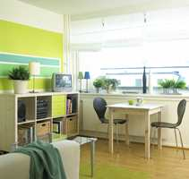 Etter: Lyst, luftig og moderne med godt lys inn fra de store vinduene.