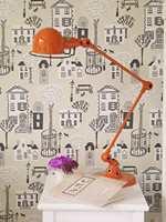 Kombiner en lys tapet med møbler og pyntegjenstander i freshe farger. Her er et tapet fra INTAG.