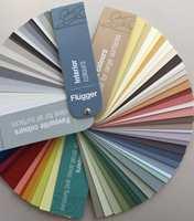Fargeviften er delt inn i seksjoner, og består totalt av 100 intreriørfarger.