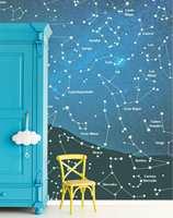 <b>HIMMELLEGEMER:</b> Har du en astronom i magen, er dette tapetet for deg! Eijffinger, Wallpower Junior fra Storeys. (Foto: Storeys)