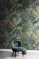 <b>MYKERE OG LUNERE:</b> Tekstiler har blitt viktigere og tapet med mønster får større plass. Tapet og tekstil er Panthera fra Borge.