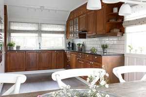 Slik ser kjøkkenet ut etter oppussing.
